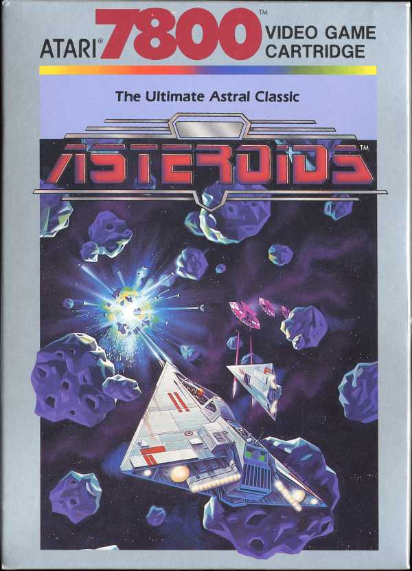 Asteroids Atari 7800 cover artwork