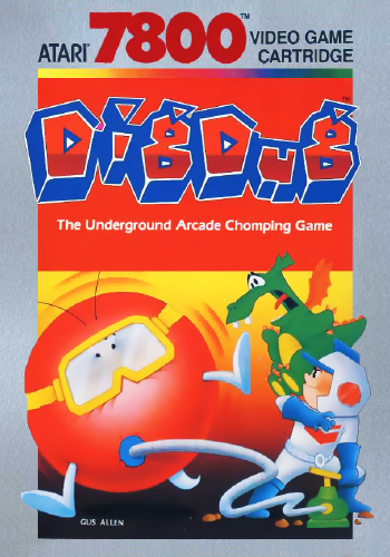 Dig Dug Atari 7800 cover artwork