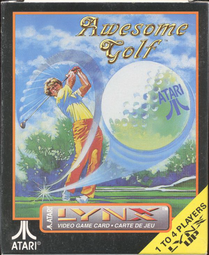 Awesome Golf Atari Lynx cover artwork