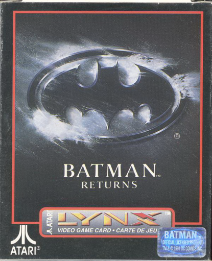 Batman Returns Atari Lynx cover artwork