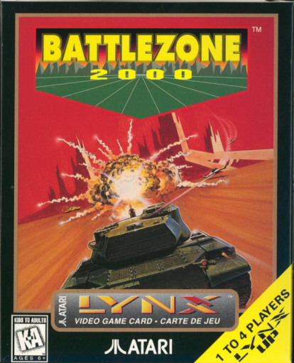 Battlezone 2000 Atari Lynx cover artwork