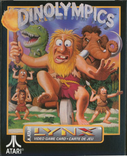 Dinolympics Atari Lynx cover artwork