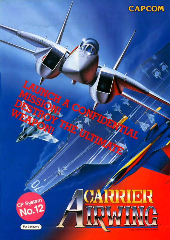 Carrier Air Wing Capcom CPS 1 cover artwork