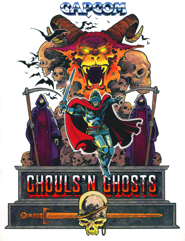 Ghouls'n Ghosts Capcom CPS 1 cover artwork