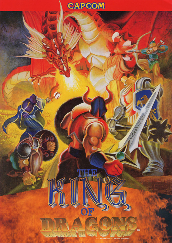 King of Dragons, The Capcom CPS 1 cover artwork