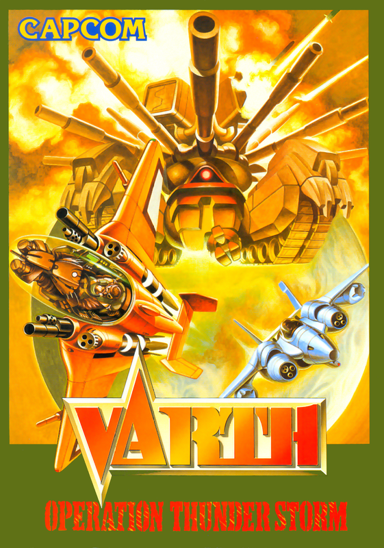 Varth : Operation Thunderstorm Capcom CPS 1 cover artwork