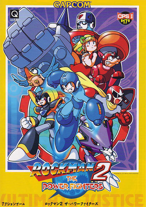 Mega Man 2 : The Power Fighters Capcom CPS 2 cover artwork