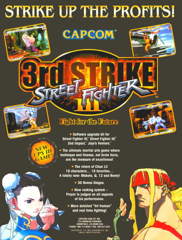 Street Fighter III 3rd Strike : Fight for the Future Capcom CPS 3 cover artwork