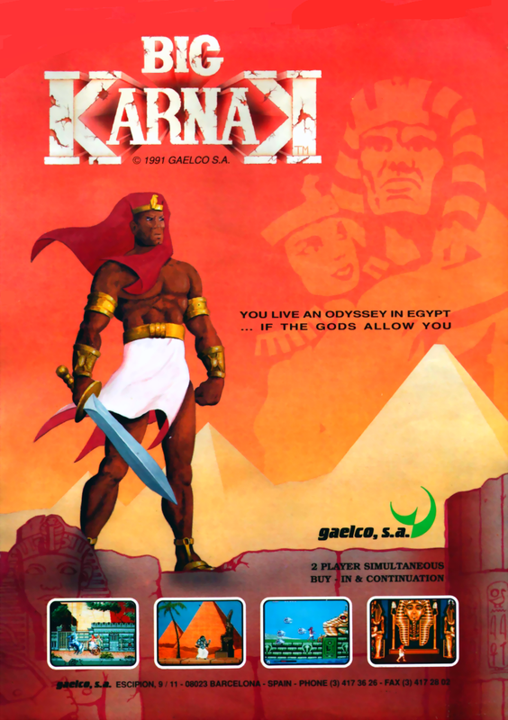 Big Karnak Coin Op Arcade cover artwork