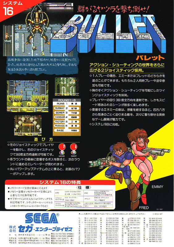 Bullet Coin Op Arcade cover artwork