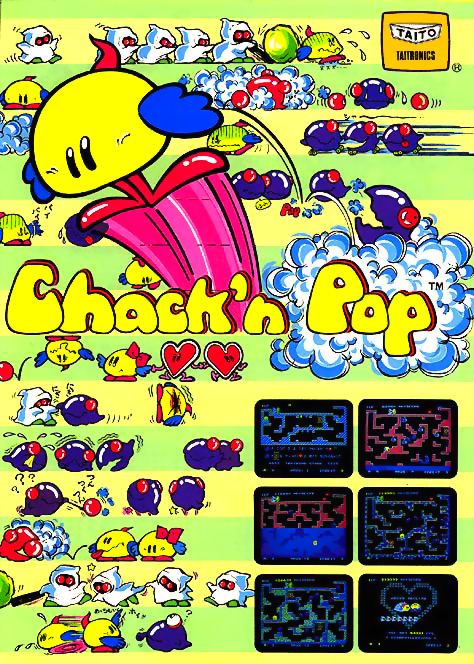 Chack'n Pop Coin Op Arcade cover artwork