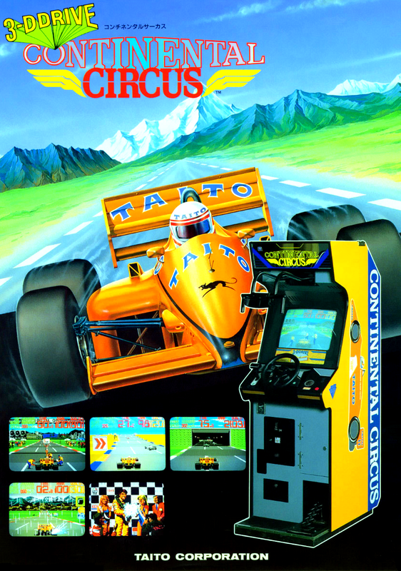 Continental Circus Coin Op Arcade cover artwork