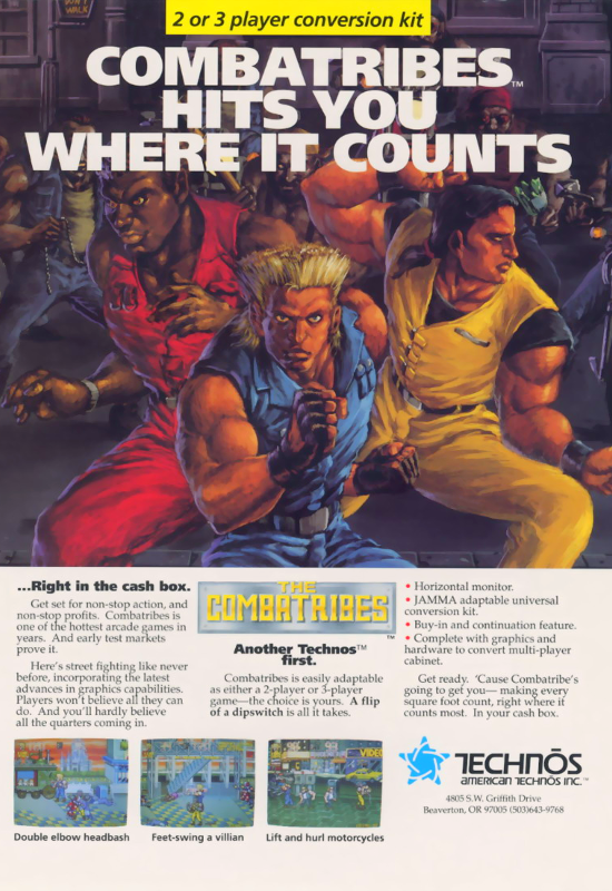 Combatribes, The Coin Op Arcade cover artwork