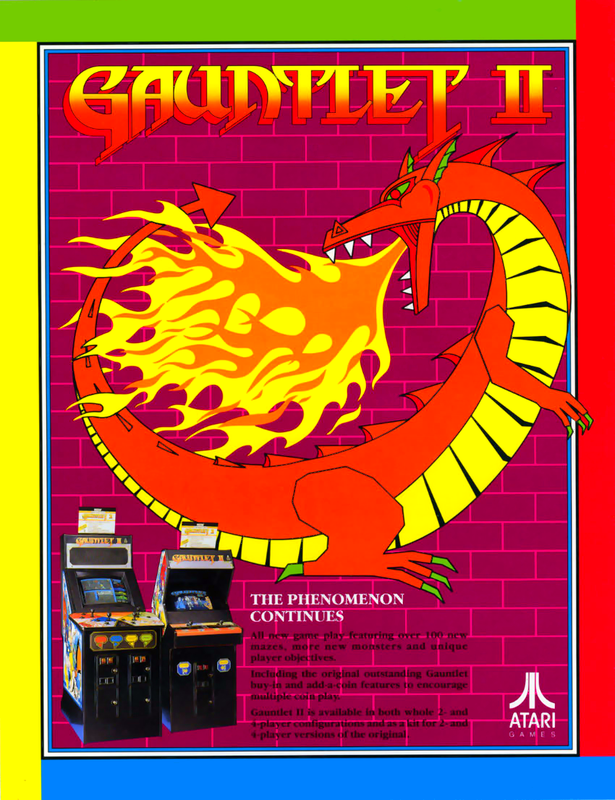 Gauntlet II Coin Op Arcade cover artwork
