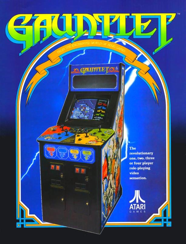Gauntlet Coin Op Arcade cover artwork