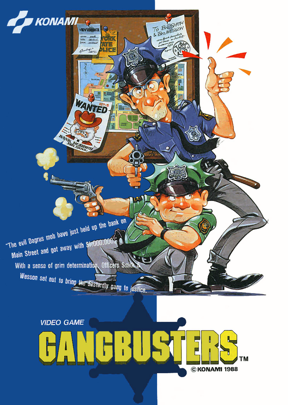 Gang Busters Coin Op Arcade cover artwork