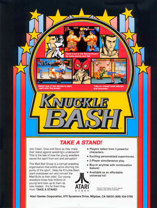 Knuckle Bash Coin Op Arcade cover artwork