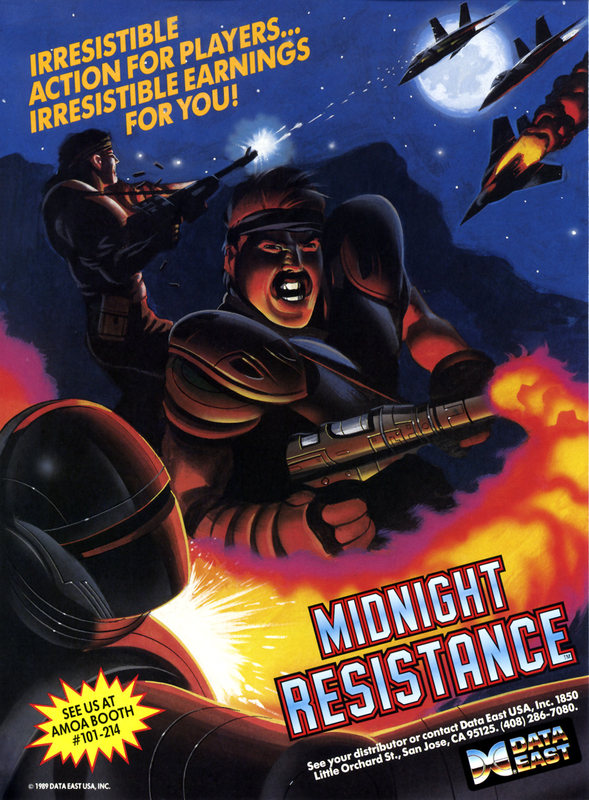 Midnight Resistance Coin Op Arcade cover artwork