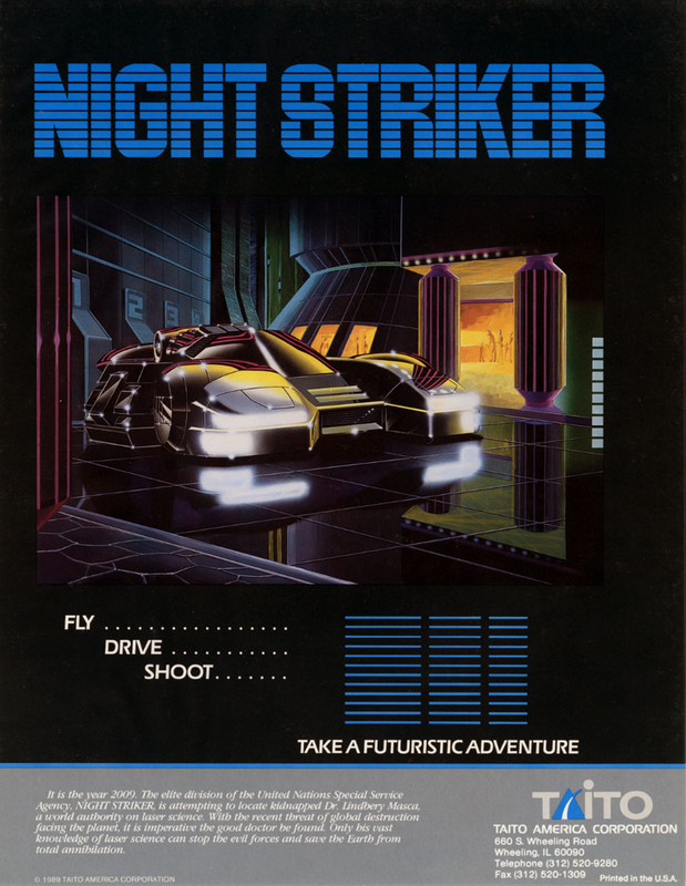 Night Striker Coin Op Arcade cover artwork