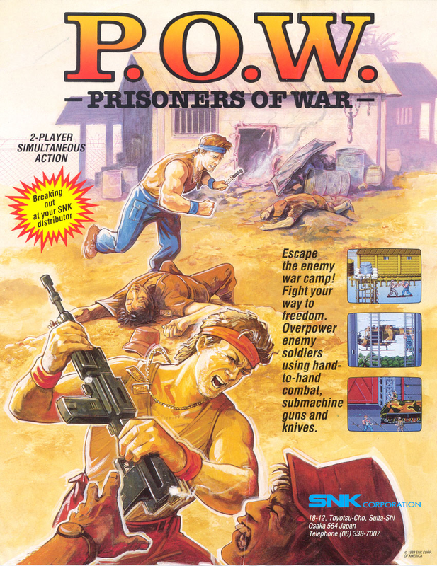 P.O.W. : Prisoners of War Coin Op Arcade cover artwork
