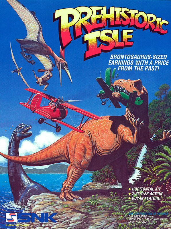 Prehistoric Isle in 1930 Coin Op Arcade cover artwork