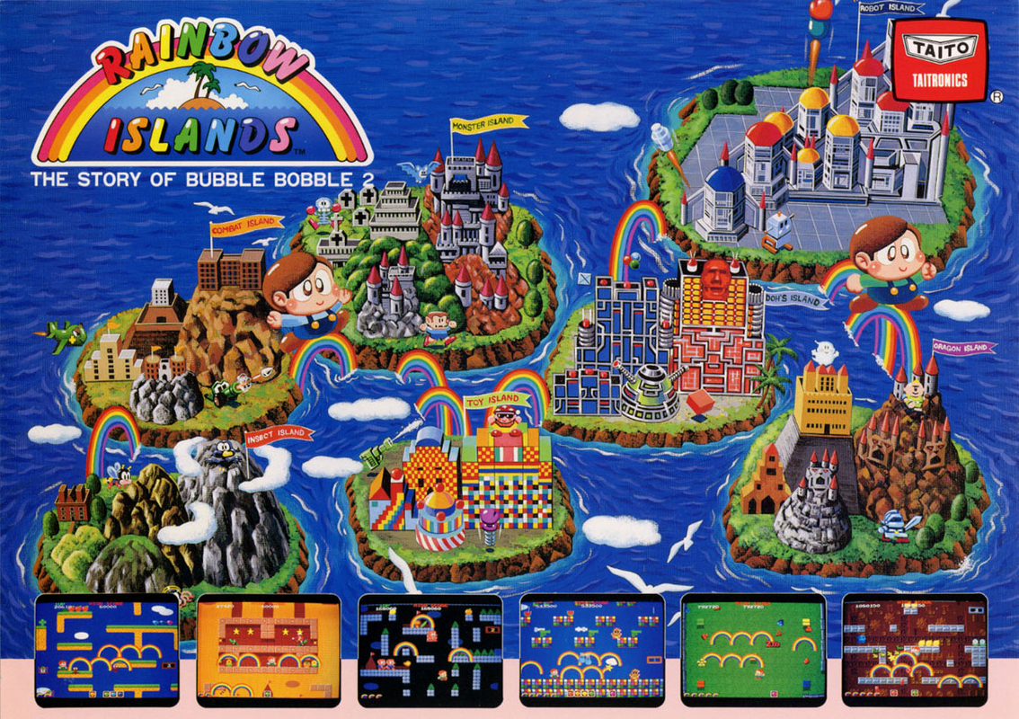 Rainbow Islands Coin Op Arcade cover artwork
