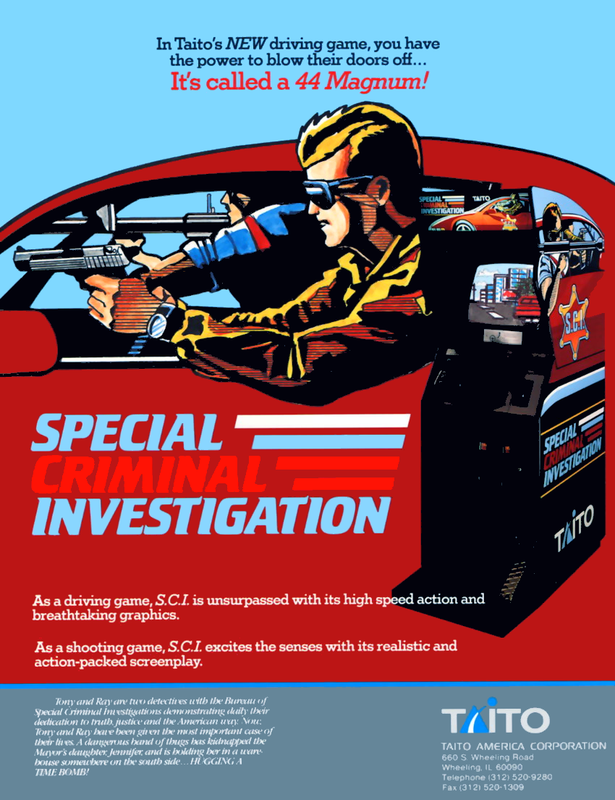 Special Criminal Investigation Coin Op Arcade cover artwork