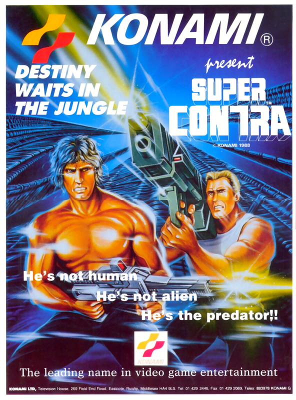 Super Contra Coin Op Arcade cover artwork