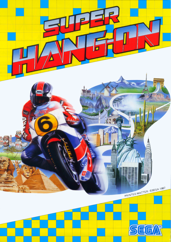 Super Hang-On Coin Op Arcade cover artwork