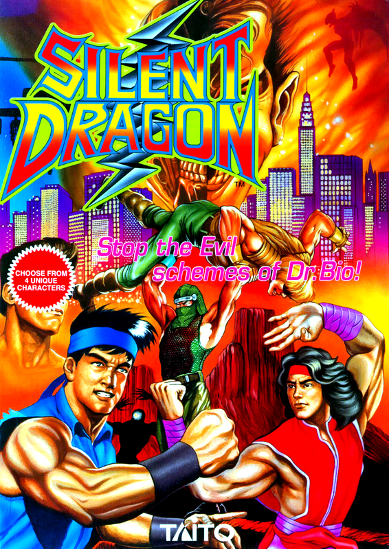 Silent Dragon Coin Op Arcade cover artwork
