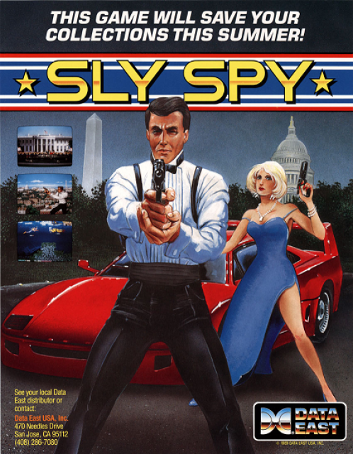 Sly Spy Coin Op Arcade cover artwork