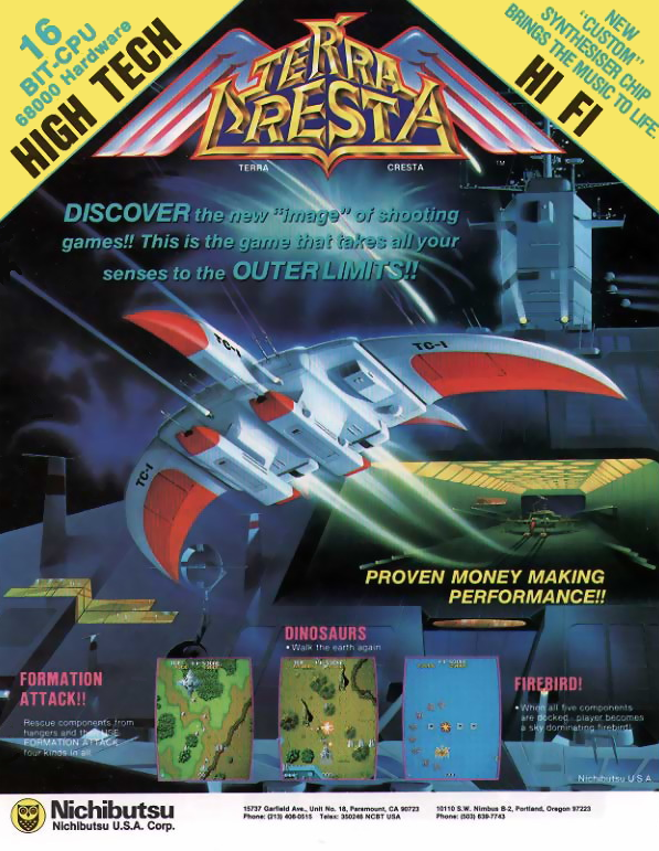 Terra Cresta Coin Op Arcade cover artwork