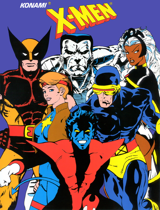X-Men Coin Op Arcade cover artwork