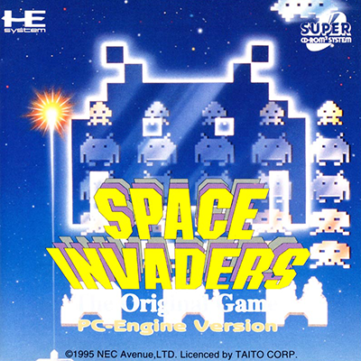 Space Invaders - The Original Game NEC PC Engine CD cover artwork