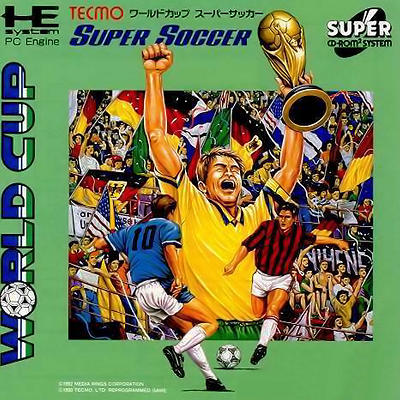 Tecmo World Cup Super Soccer NEC PC Engine CD cover artwork