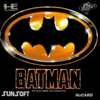 Batman NEC PC Engine cover artwork