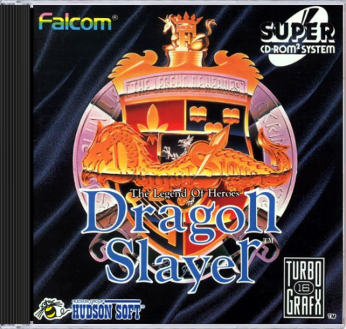 Dragon Slayer - The Legend of Heroes NEC TurboGrafx 16 CD cover artwork