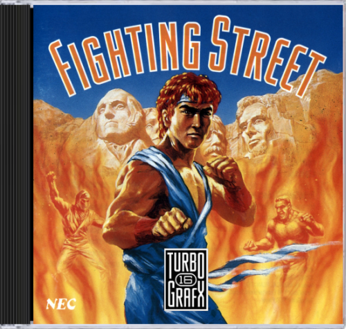 Fighting Street NEC TurboGrafx 16 CD cover artwork