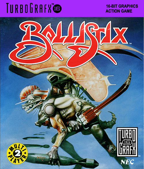 Ballistix NEC TurboGrafx 16 cover artwork