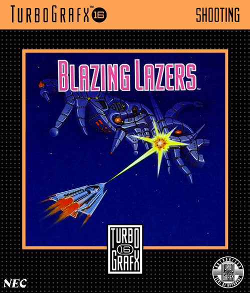 Blazing Lazers NEC TurboGrafx 16 cover artwork