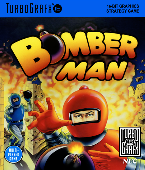 Bomberman NEC TurboGrafx 16 cover artwork
