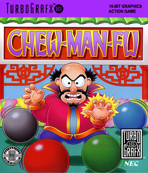 Chew Man Fu NEC TurboGrafx 16 cover artwork