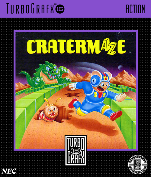 Cratermaze NEC TurboGrafx 16 cover artwork