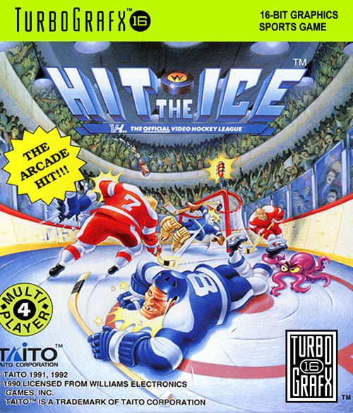 Hit the Ice - VHL the Official Video Hockey League NEC TurboGrafx 16 cover artwork