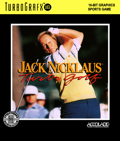 Jack Nicklaus' Turbo Golf NEC TurboGrafx 16 cover artwork