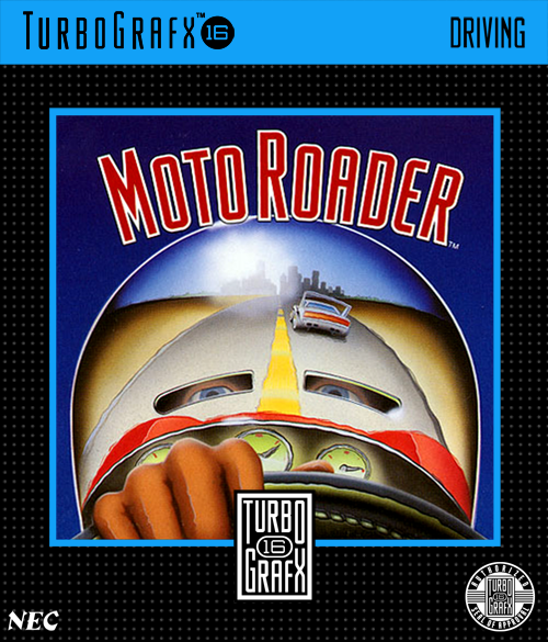 Moto Roader NEC TurboGrafx 16 cover artwork