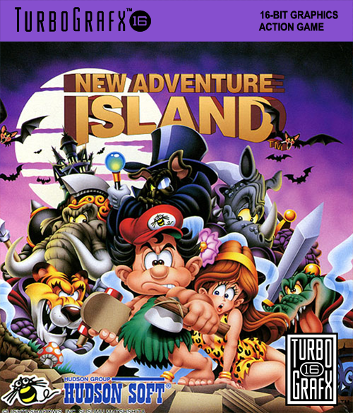 New Adventure Island NEC TurboGrafx 16 cover artwork