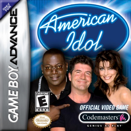 American Idol Nintendo Game Boy Advance cover artwork