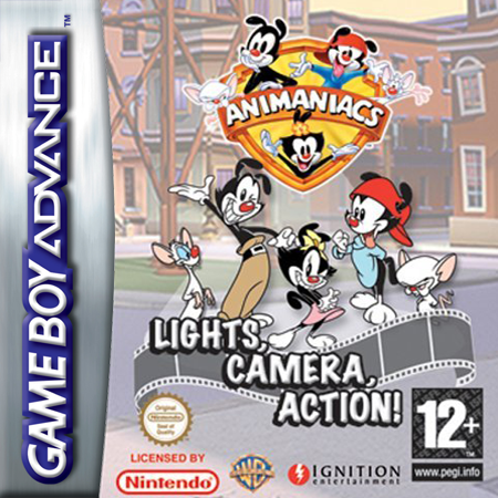 Animaniacs - Lights, Camera, Action! Nintendo Game Boy Advance cover artwork