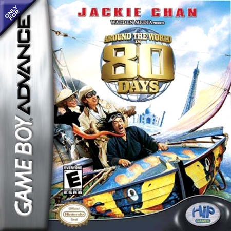 Around the World in 80 Days Nintendo Game Boy Advance cover artwork